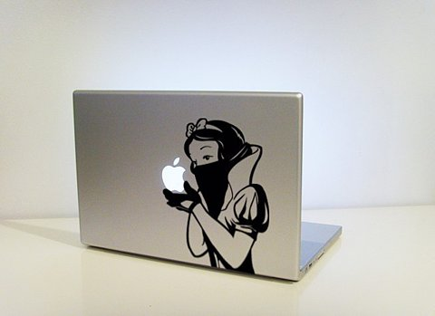 Snow White Eating an Apple on a Mac