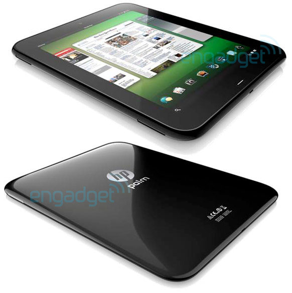 Plam Touchpad Tablet Front - Back