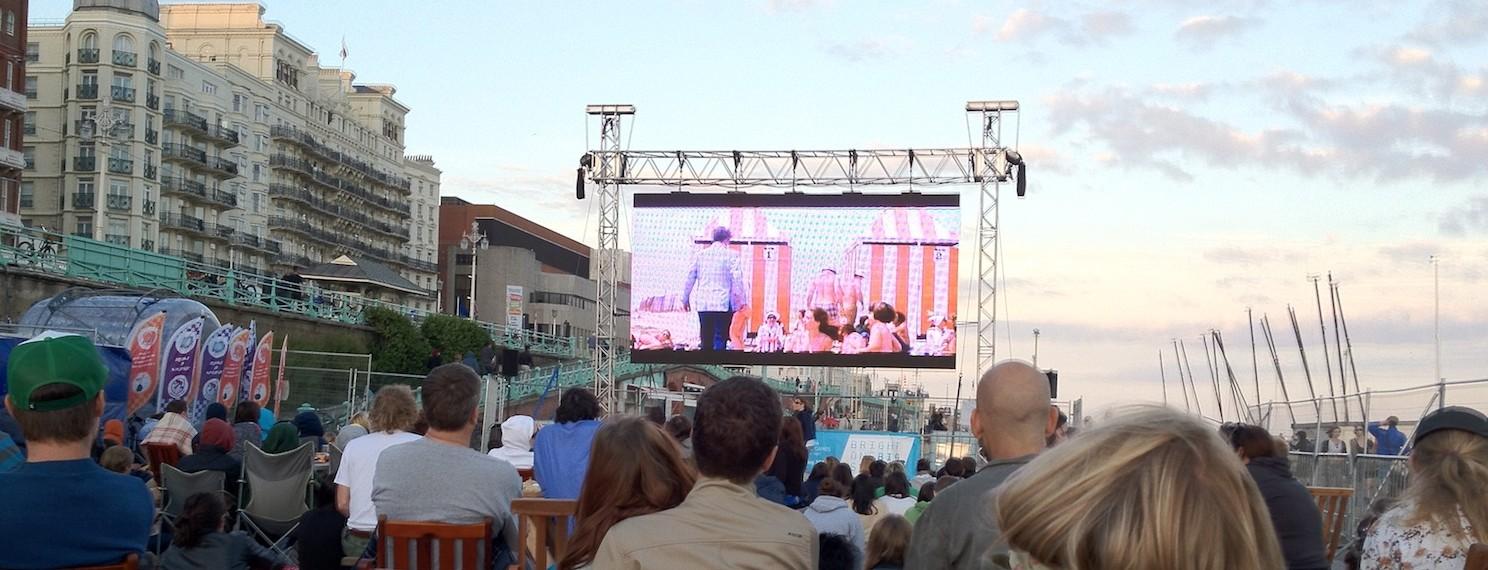 Brighton open air big cinema screen