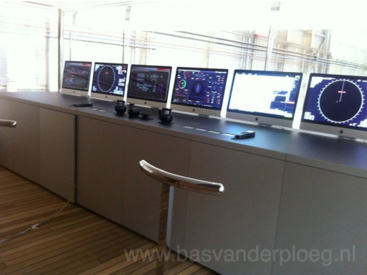 Apple iMacs as boats control centre