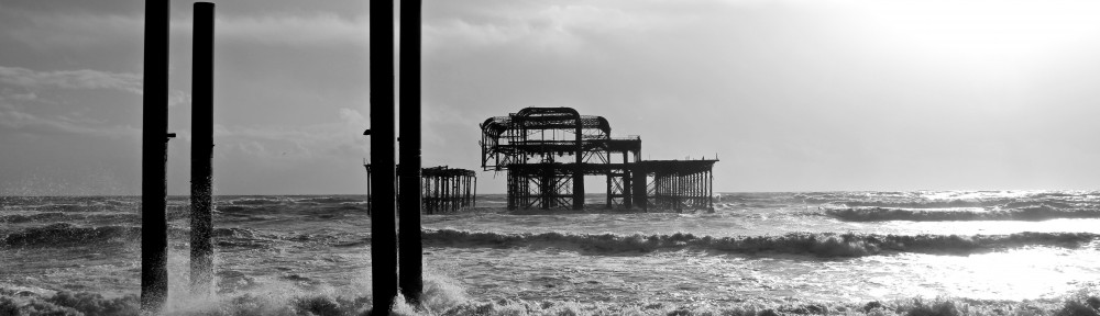 West Pier February 2014 After Storm Damage