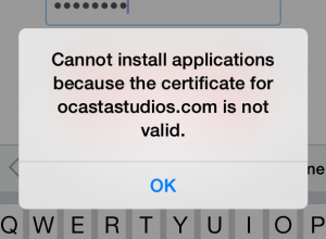 cannot install applications because the certificate is not valid